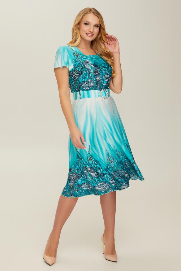 Платье бирюзовое Леся