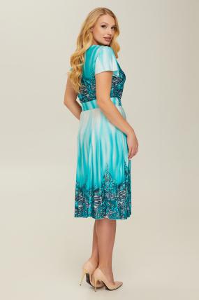 Платье бирюзовое Леся 2661