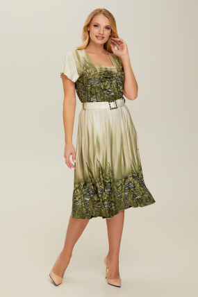 Сукня оливкова Леся 2662