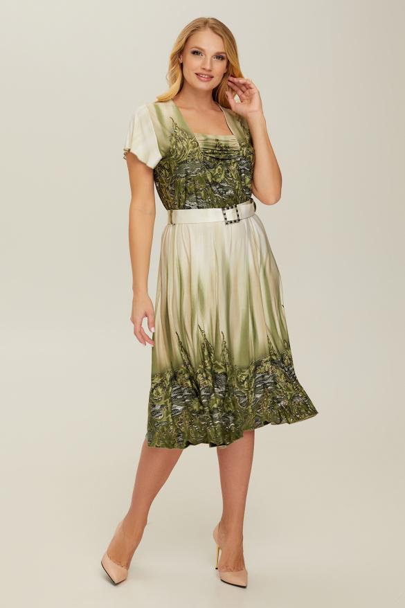 Сукня оливкова Леся