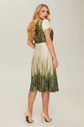 Сукня оливкова Леся 2663