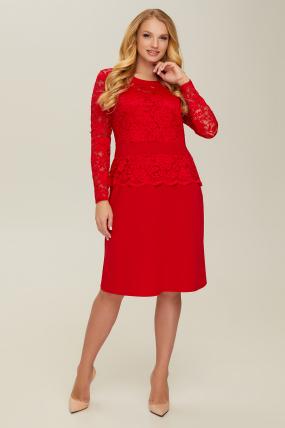 Платье красное Андора 2666