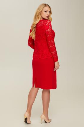Платье красное Андора 2667