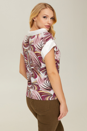 Блуза розовая Лидия 2669