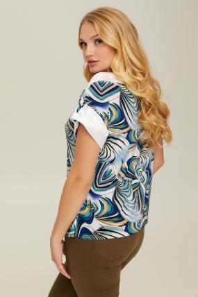 Блуза голубая Лидия 2670