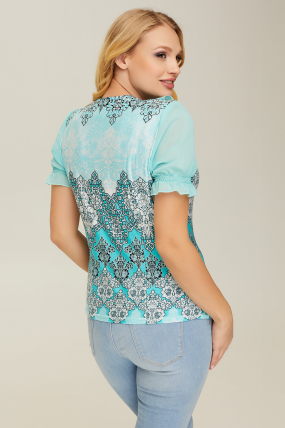 Блуза бирюзовая Мэли 2675