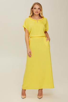 Платье желтое Маркиза 2722