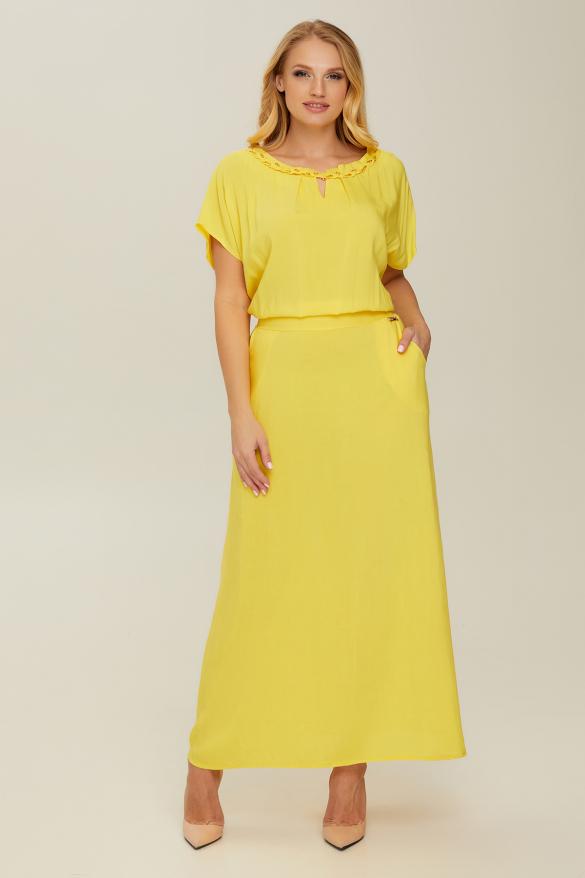 Платье желтое Маркиза