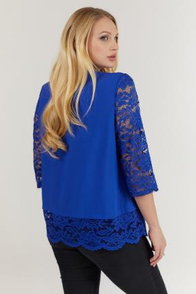 Блуза синяя Троянда 2729
