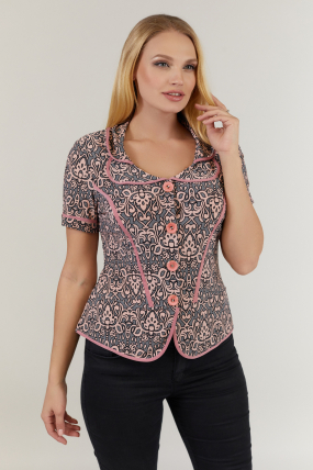 Блуза розовая Зарина