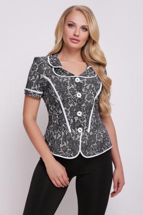 Блуза чорно-біла Заріна 2732