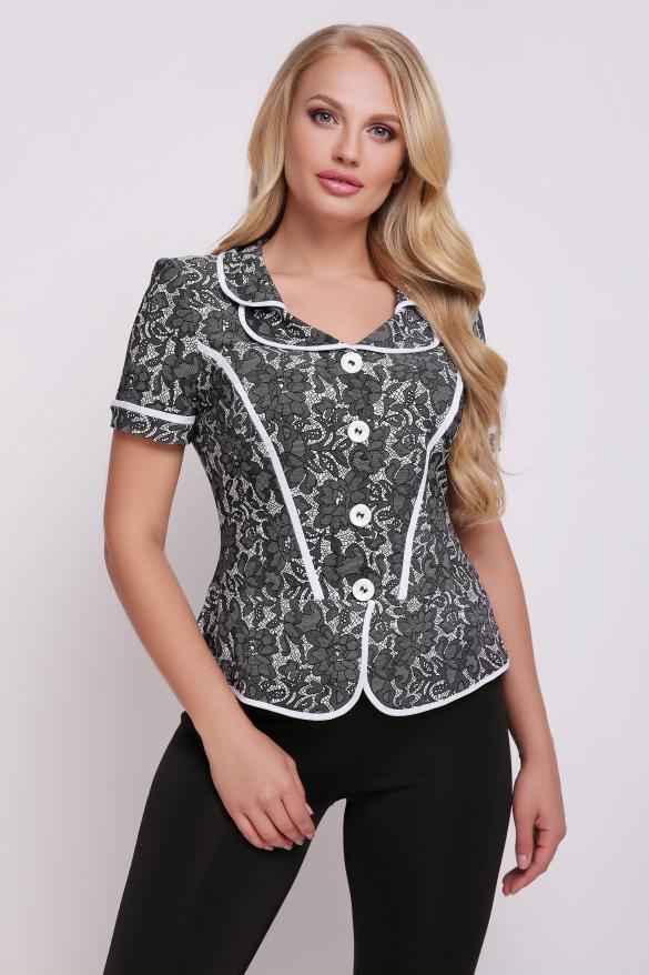 Блуза чорно-біла Заріна