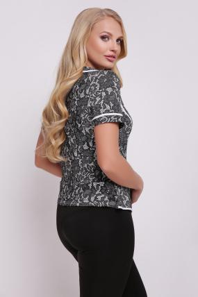 Блуза чорно-біла Заріна 2733