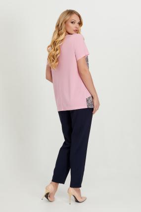 Туніка рожева з сірим Жизель 2753