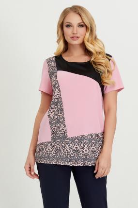 Туніка рожева з сірим Жизель 2754