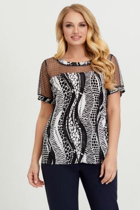 Блуза черно-белая Люся