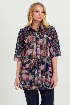 Блуза Поллі димчата 2777