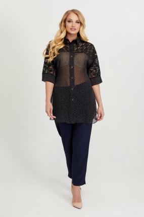 Блуза Поллі чорний горох