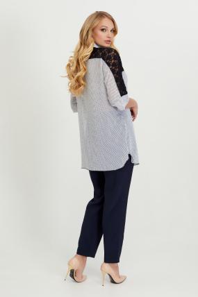 Блуза Поллі білий горох 2788