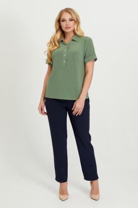 Блуза Ира оливковая  2799