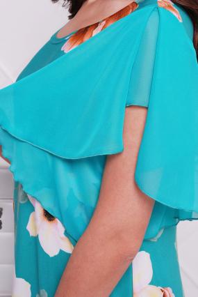 Платье бирюзовое Магнолия 28