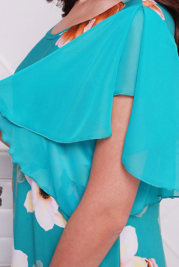 Платье бирюзовое Магнолия