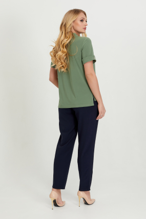 Блуза Ира оливковая  2801