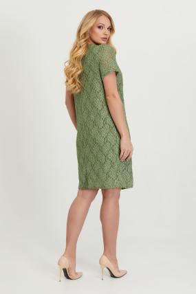 Сукня Айза оливкова гіпюр 2812