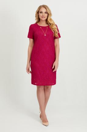 Платье Айза марсала гипюр 2813