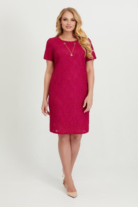 Платье Айза марсала гипюр