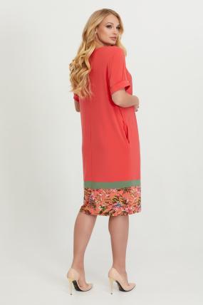 Платье Зурима коралл 2830