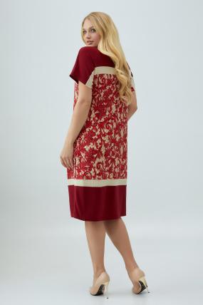 Платье марсала Эльза 2849