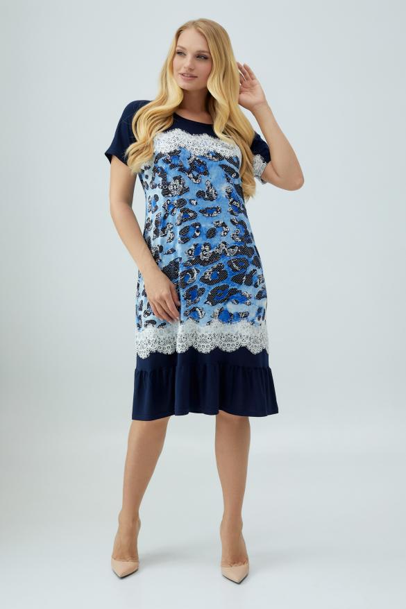 Сукня Аїда блакитна з синім