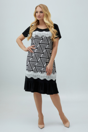 Сукня Аїда чорно-біла