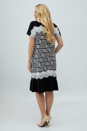 Платье Аида черно-белое 2866