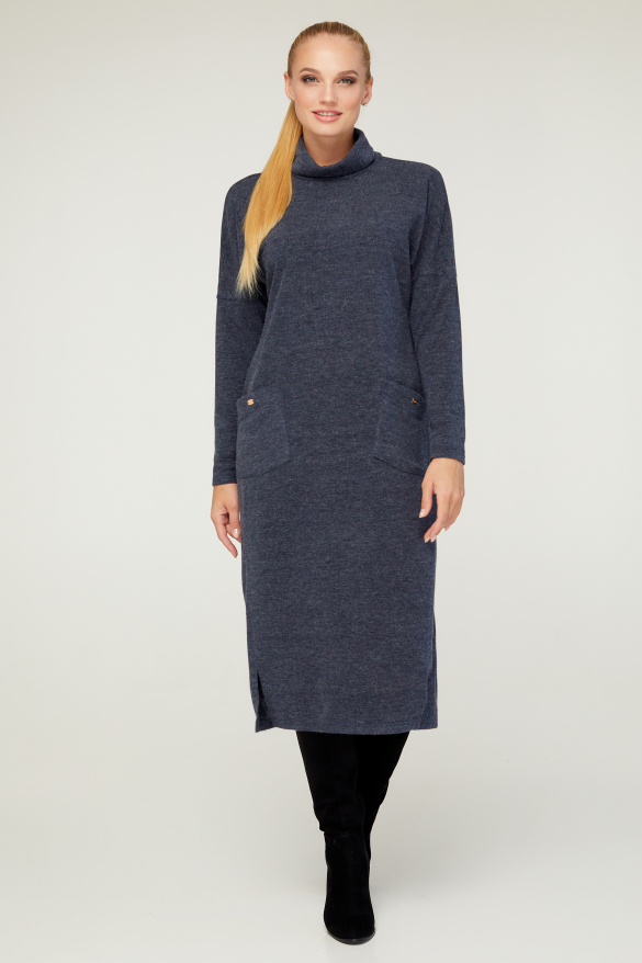 Платье Нимфа серо-синее