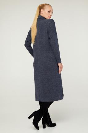 Платье Нимфа серо-синее 3025