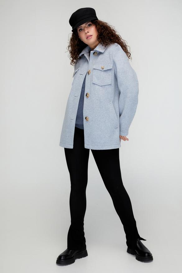 Пальто Берні сіро-блакитне