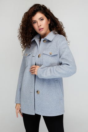 Пальто Берні сіро-блакитне 3071