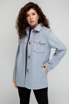 Пальто Берні сіро-блакитне 3072