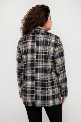 Пальто Берни темно-синее 3075