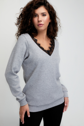 Джемпер Мика светло-серый 3086