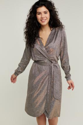 Платье Асти серебристое 3217