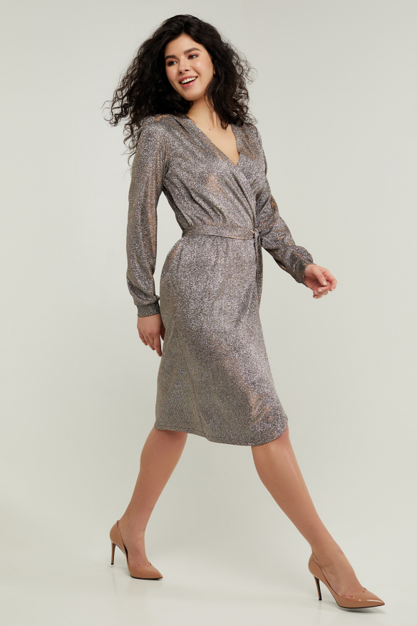 Платье Асти серебристое