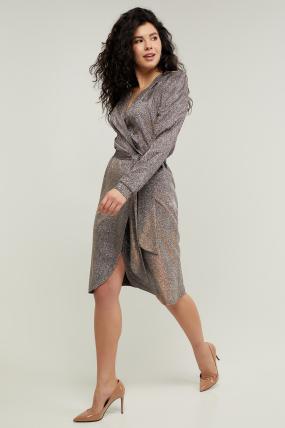 Платье Асти серебристое 3219
