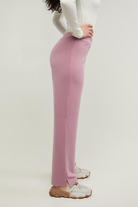 Трикотажные спортивные брюки Туя розовые