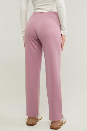 Трикотажные спортивные брюки Туя розовые 3289