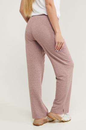 Трикотажні спортивні штани Туя пурпурні 3293