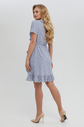Платье Монако голубое 3317