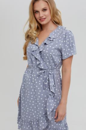 Платье Монако голубое